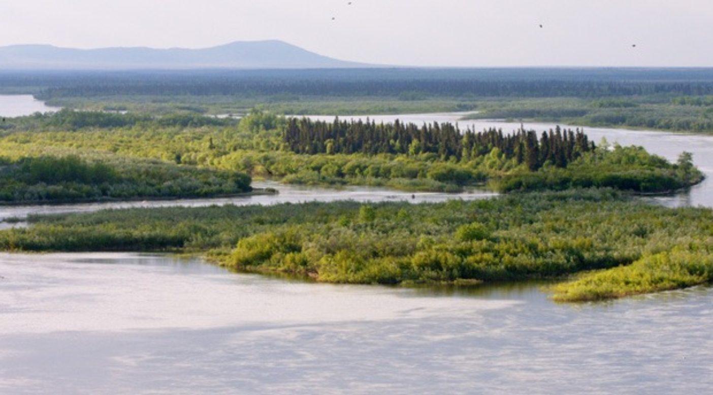 ブリストル湾に注ぐヌシャガク川。アラスカ。Photo:AlaskaTrekker (CC)