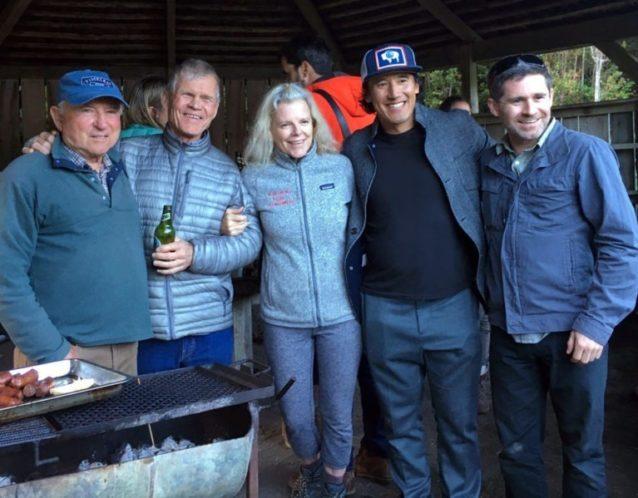 イヴォン・シュイナード、リック・リッジウェイ、クリス・トンプキンス、ジミー・チン、マイキー・シェイファー。Photo: Joanne Dornan