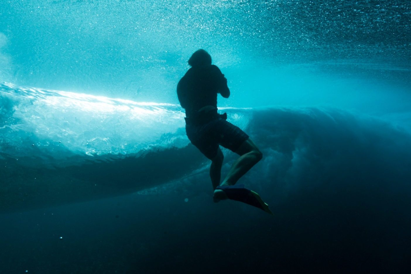 チョープーの水中写真を撮るスコット・ソーエンズ。Photo: Donnie Hedden