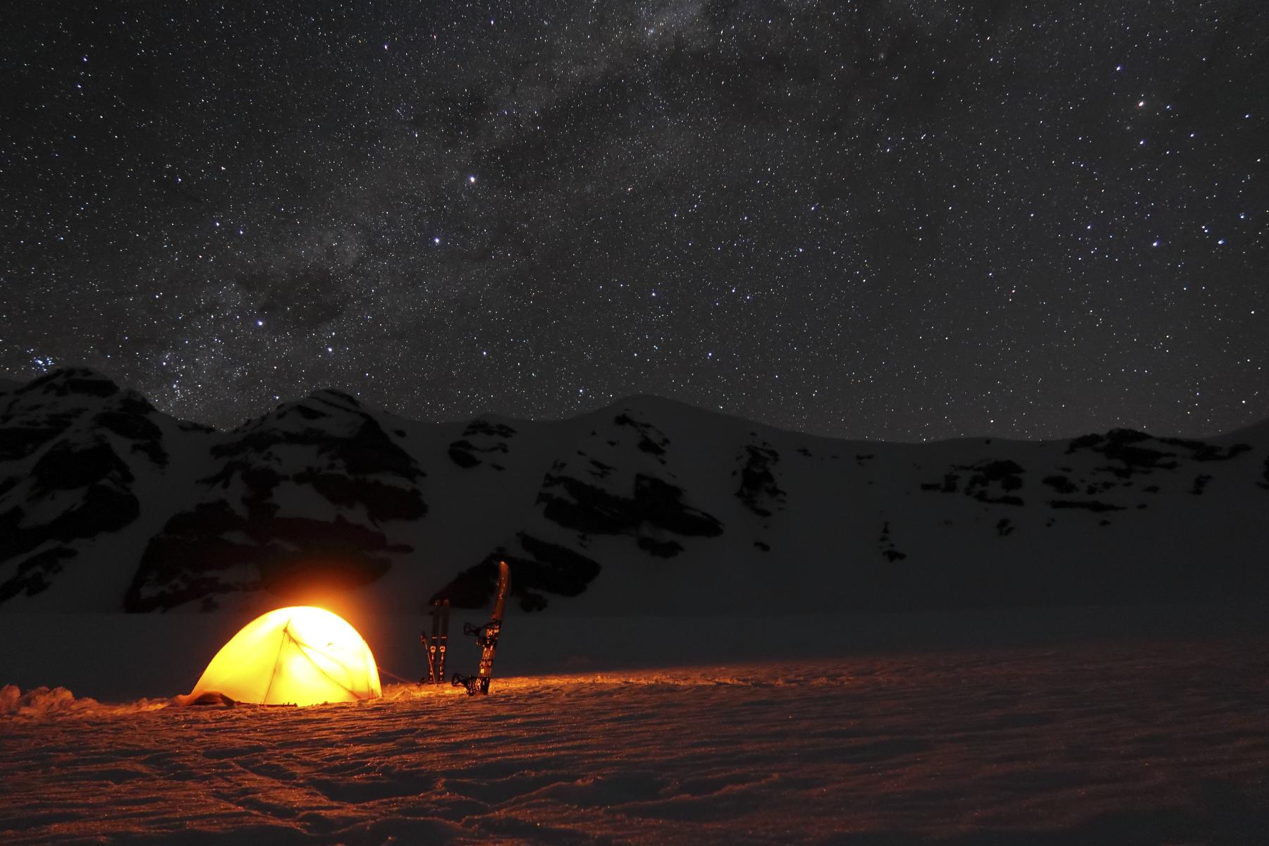夜空一面に瞬く星の数は人生最大だった。 写真:布施  智基