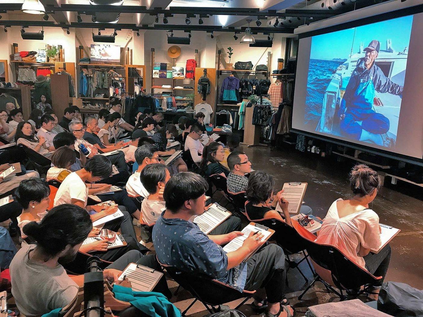 日本での『シー・オブ・ミラクルズ』の上映会。Photo: Tetsuharu Kinoshiro