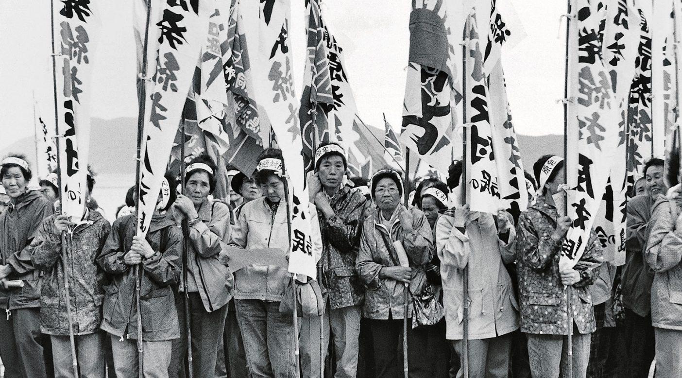 活動家たちは上関原子力発電所の建設に35年間立ち向かい、闘いつづけている。山口県。Photo: KEIKO NASU