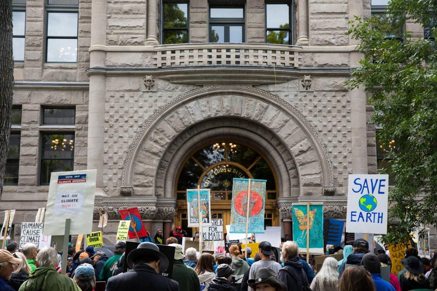 ソルトレイク・シティでの9月20日の気候ストライキの抗議者たち。Photo: Andrew Burr