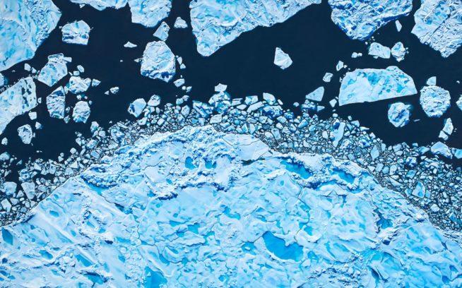 ザリア・フォーマン「リンカーン海、グリーンランド北緯82度32分30秒3036西経59度54分50秒3814」ソフトパステル/紙 (アーティストの許可を得て掲載)