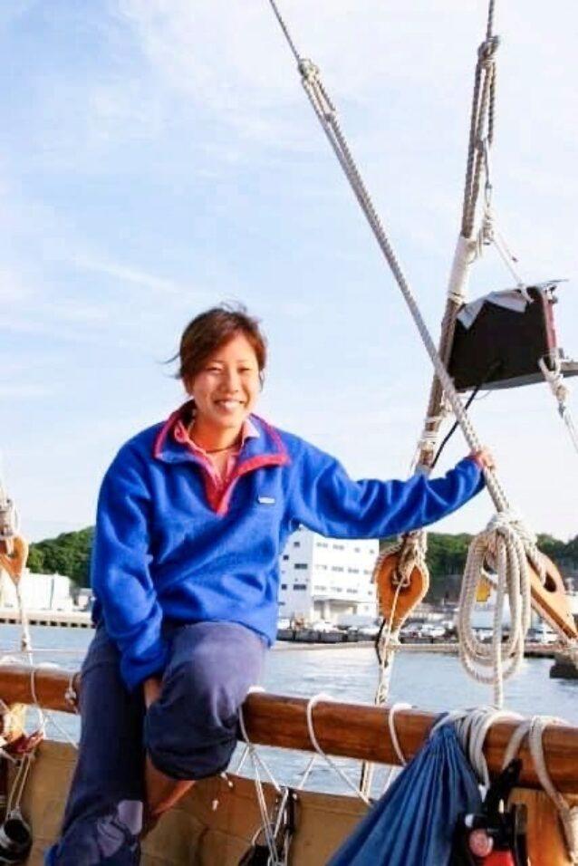初めてホクレア号に乗船した当時の沙希さん 写真:内田 沙希