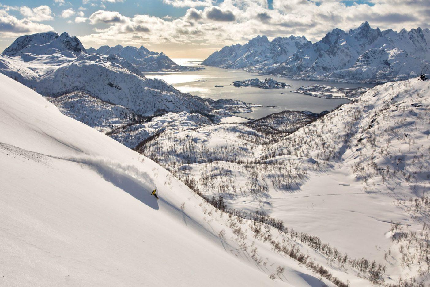 2018年の旅でノルウェー北部の遠近感を感じ取る。Photo:Andrew Miller
